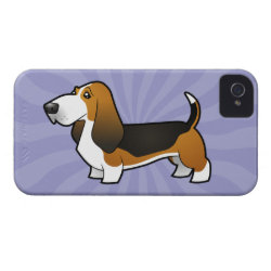 Case-Mate iPhone 4 Barely There Universal Case with Basset Hound Phone Cases design
