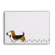 Cartoon Basset Hound Envelope