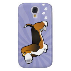 Cartoon Basset Hound Galaxy S4 Cover