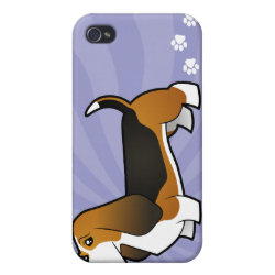 Cartoon Basset Hound iPhone 4/4S Cover