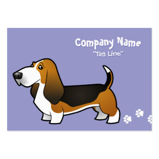 Cartoon Basset Hound Large Business Card