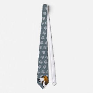 Cartoon Basset Hound Neck Tie