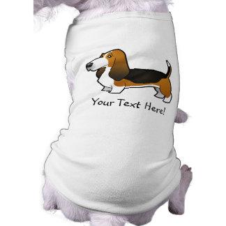 Cartoon Basset Hound T-Shirt