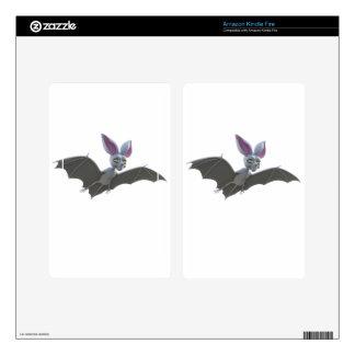 Cartoon Bat Flying Kindle Fire Skin