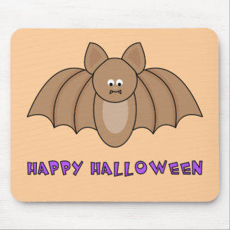 Cartoon Bat Happy Halloween Mousepad