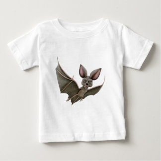 Cartoon Bat with Wings in Upstroke Baby T-Shirt