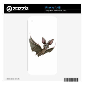 Cartoon Bat with Wings in Upstroke Decals For The iPhone 4S