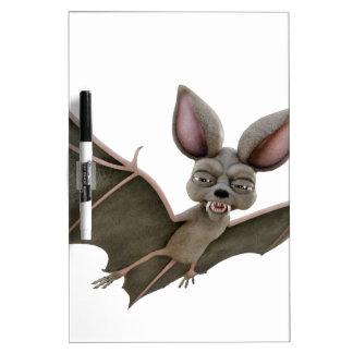 Cartoon Bat with Wings in Upstroke Dry-Erase Board
