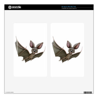 Cartoon Bat with Wings in Upstroke Kindle Fire Decals
