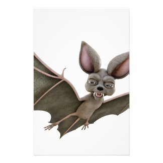 Cartoon Bat with Wings in Upstroke Stationery