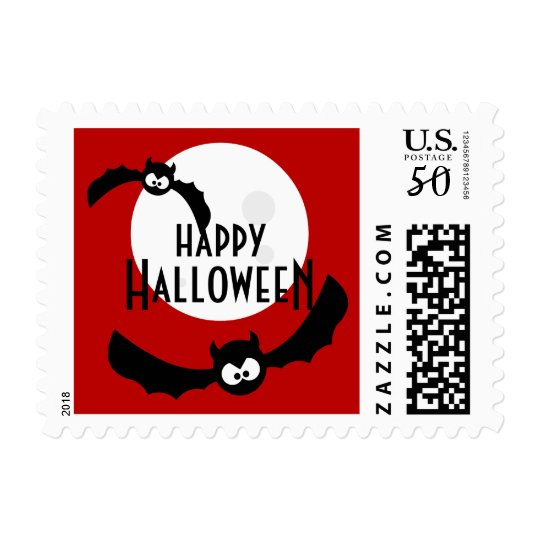 Cartoon Bats - Halloween stamps