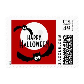 Cartoon Bats - Halloween stamps