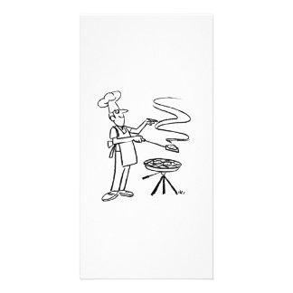 Cartoon BBQ Cook Picture Card