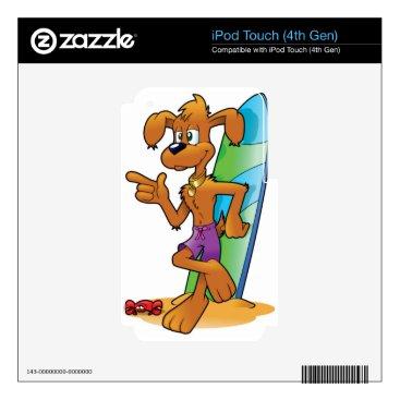 Beach Themed cartoon beach dog skins for iPod touch 4G