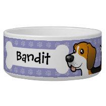 Cartoon Beagle Bowl