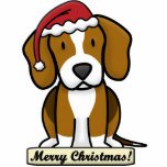 Cartoon Beagle Christmas Ornament Photo Cutout