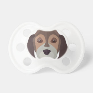 Cartoon Beagle Head Pacifier