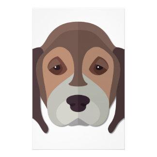 Cartoon Beagle Head Stationery Paper