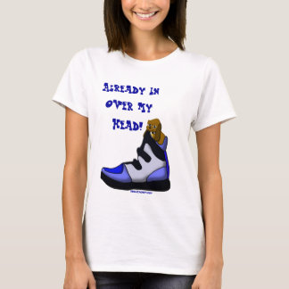 Cartoon Beagle In a shoe in over my head T-Shirt
