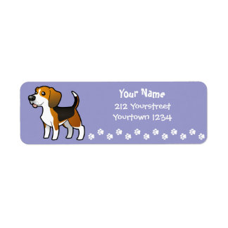 Cartoon Beagle Label
