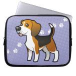 Cartoon Beagle Laptop Sleeve