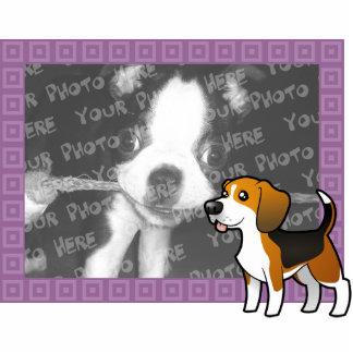 Cartoon Beagle Photo Frame Cutout