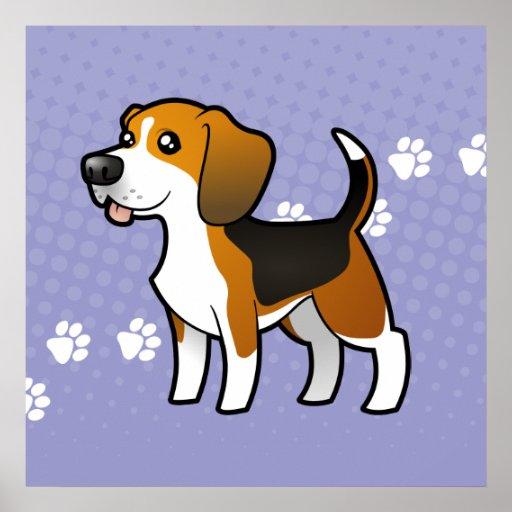 Cartoon Beagle Print