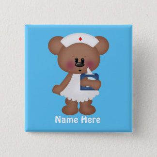 Cartoon Bear add name nurse button