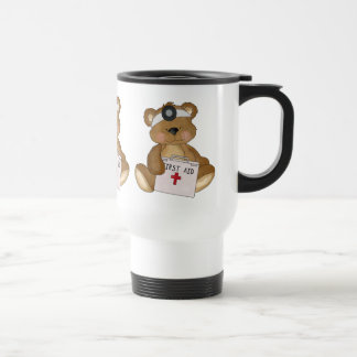 Cartoon Bear Doctor travel mug