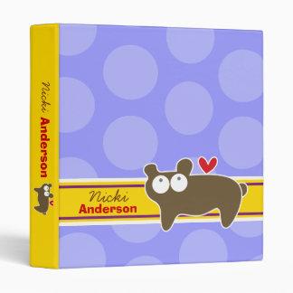Cartoon Bear Fun Kids Custom Binder