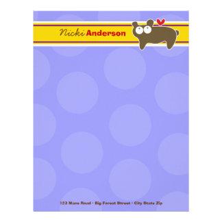 Cartoon Bear Fun Personal Custom Letterhead