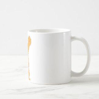 Cartoon Bear Holding Fried Chicken Drumstick Classic White Coffee Mug