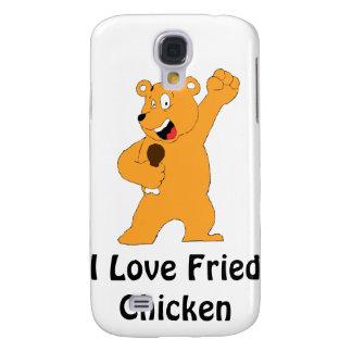 Cartoon Bear Holding Fried Chicken Drumstick Samsung Galaxy S4 Case