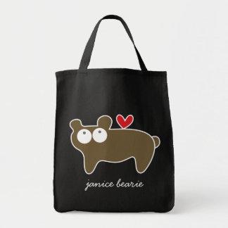 Cartoon Bear Kid Cute Custom Gift Tote Bag