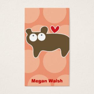 Cartoon Bear Kid Fun Custom Photo Profile Card