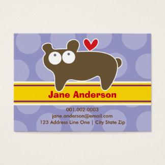 Cartoon Bear Kid Photo Profile / Name Card