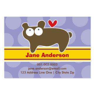 Cartoon Bear Kid Photo Profile / Name Card Business Card Template