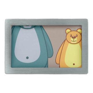 Cartoon bear vector belt buckle