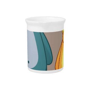 Cartoon bear vector beverage pitcher
