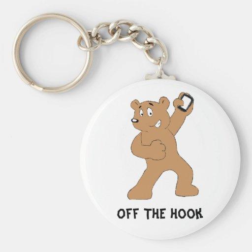 Cartoon Bear With Cell Phone Key Chain
