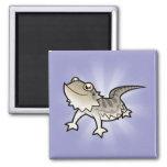 Cartoon Bearded Dragon / Rankin Dragon 2 Inch Square Magnet
