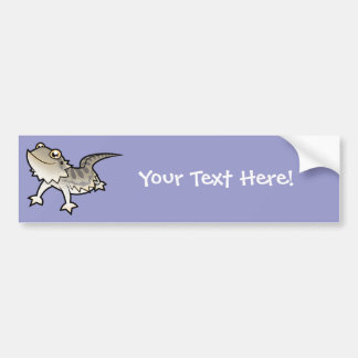 Cartoon Bearded Dragon / Rankin Dragon Bumper Sticker