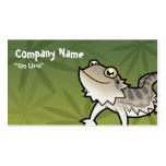Cartoon Bearded Dragon / Rankin Dragon Business Card Template