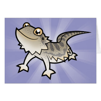 Cartoon Bearded Dragon / Rankin Dragon Greeting Card