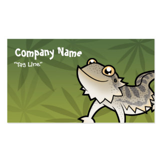Cartoon Bearded Dragon / Rankin Dragon Double-Sided Standard Business Cards (Pack Of 100)