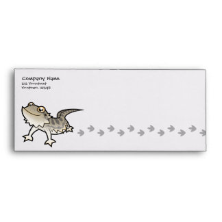 Cartoon Bearded Dragon / Rankin Dragon Envelope