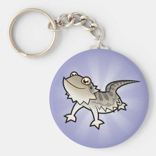 Cartoon Bearded Dragon / Rankin Dragon Keychain