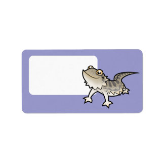 Cartoon Bearded Dragon / Rankin Dragon Label