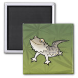 Cartoon Bearded Dragon / Rankin Dragon Fridge Magnet