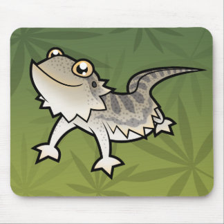 Cartoon Bearded Dragon / Rankin Dragon Mouse Pad